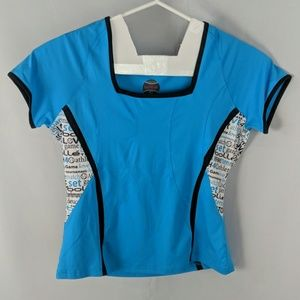 Bolle t-shirt tennis top casual W/ words NWOT